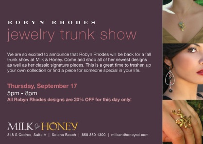 Milk & Honey Trunk show
