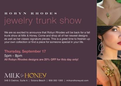 Robyn Rhodes trunk show